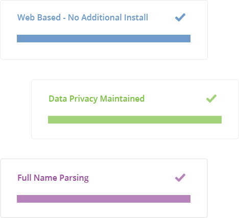 Data Parsing Software Features