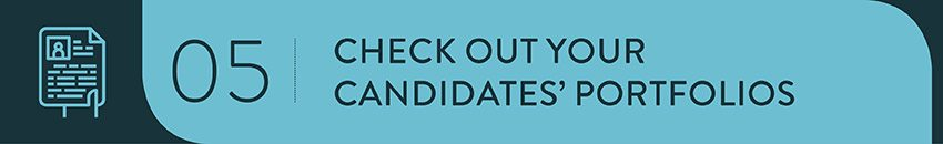 Check out your Nonprofit Consulting Firm candidates' portfolios