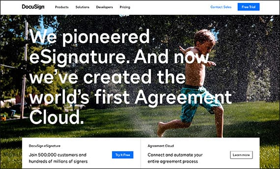Collect e-signatures with DocuSign's salesforce app for nonprofits.
